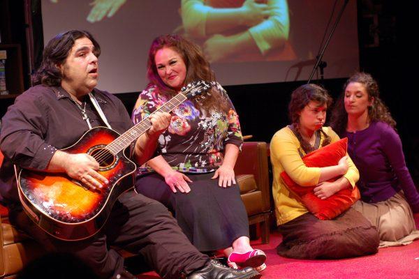 singing on the sofa